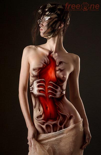 бодиарт, рисунки на теле