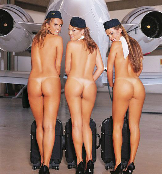Голые девушки стюардессы фото